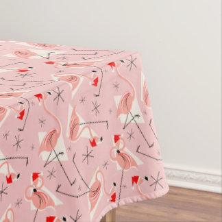 フラミンゴのサンタのピンクの数々のなテーブルクロス テーブルクロス