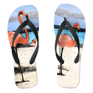 フラミンゴのスケッチのビーチサンダル ビーチサンダル