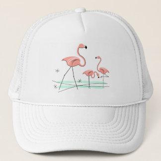 フラミンゴのトリオ2グループのトラック運転手の帽子 キャップ