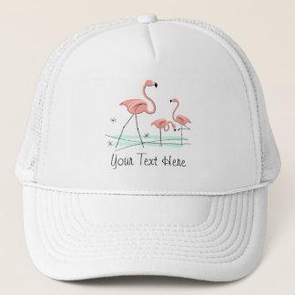 フラミンゴのトリオ2'文字」のグループのトラック運転手の帽子 キャップ