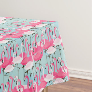 フラミンゴのピンクおよび白い群集 テーブルクロス