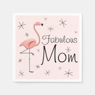 フラミンゴのピンクのすばらしいお母さんの紙ナプキン スタンダードカクテルナプキン