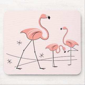 フラミンゴのピンクのトリオ2のmousepad マウスパッド