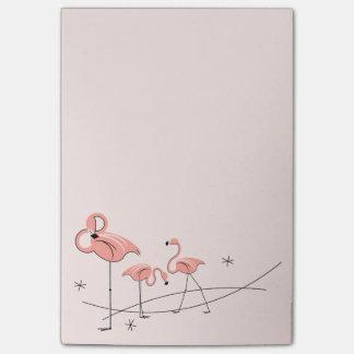 フラミンゴのピンクのトリオ ポストイット