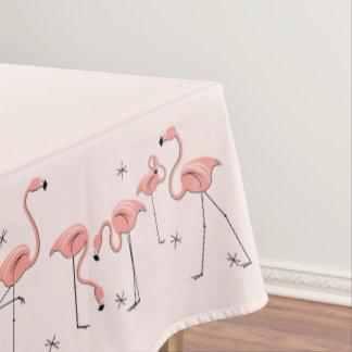 フラミンゴのピンクのボーダーテーブルクロス テーブルクロス