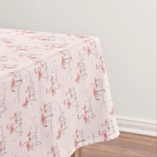 フラミンゴのピンクの数々のなテーブルクロス テーブルクロス