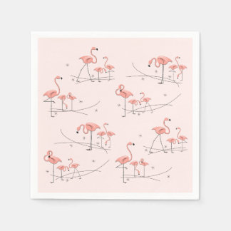 フラミンゴのピンクの数々のな紙ナプキン スタンダードカクテルナプキン
