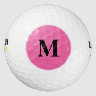 フラミンゴのピンクの無地 ゴルフボール