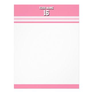 フラミンゴのピンクの白いチームジャージーカスタムな数名前 レターヘッド