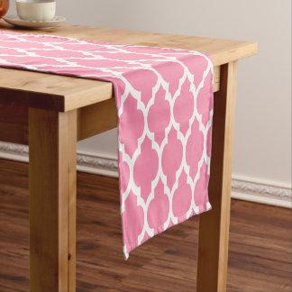 フラミンゴのピンクの白いモトッコ人#4LGパターン ショートテーブルランナー
