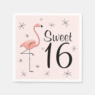フラミンゴのピンクの菓子16の紙ナプキン スタンダードカクテルナプキン