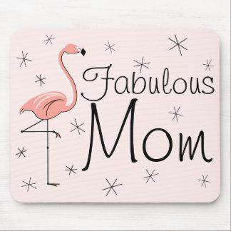 """フラミンゴのピンクの""""すばらしいお母さん""""のmousepad マウスパッド"""