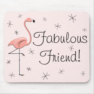 """フラミンゴのピンクの""""すばらしい友人""""のmousepad マウスパッド"""