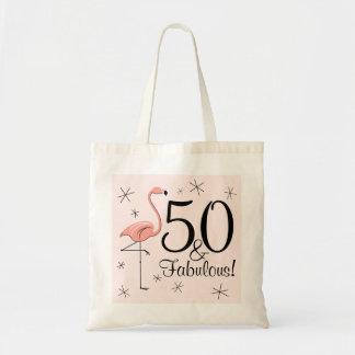 フラミンゴのピンク「50およびすばらしい!」 トートバック トートバッグ