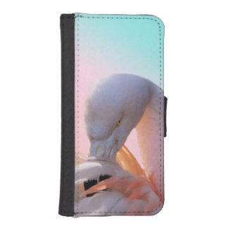 フラミンゴのフラミンゴのiPhone 5/5sのウォレットケース iPhoneSE/5/5sウォレットケース