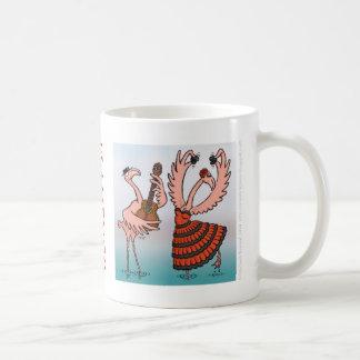フラミンゴのフラメンコのマグ コーヒーマグカップ