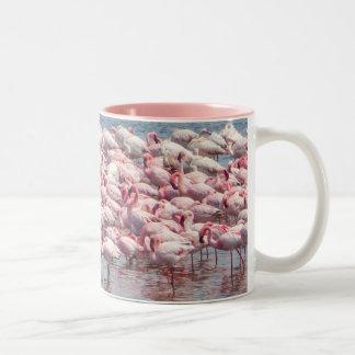 フラミンゴのマグ ツートーンマグカップ
