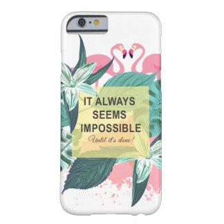フラミンゴの刺激 BARELY THERE iPhone 6 ケース