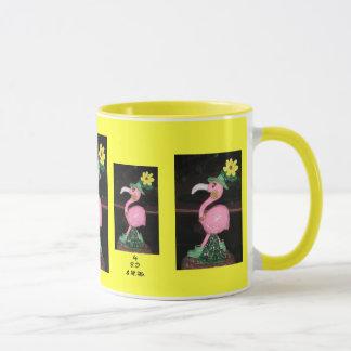 フラミンゴの女性 マグカップ