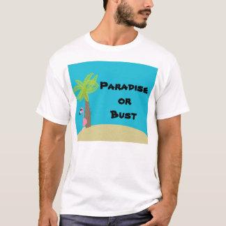 フラミンゴの楽園かバスト Tシャツ