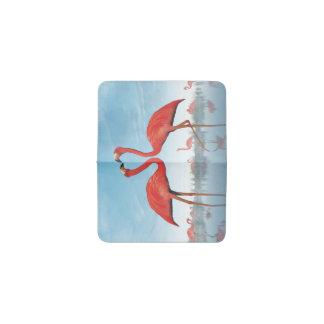 フラミンゴの求愛- 3Dは描写します 名刺入れ