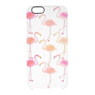フラミンゴの澄んな電話箱 クリアiPhone 6/6Sケース
