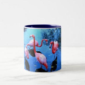 フラミンゴの踊ること ツートーンマグカップ