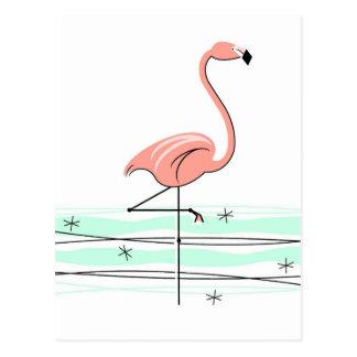 フラミンゴの郵便はがき ポストカード