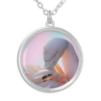 フラミンゴの銀によってめっきされるネックレス媒体 シルバープレートネックレス