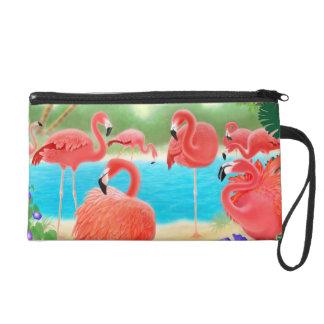 フラミンゴの鳥のBagettesの熱帯ピンクのバッグ リストレット