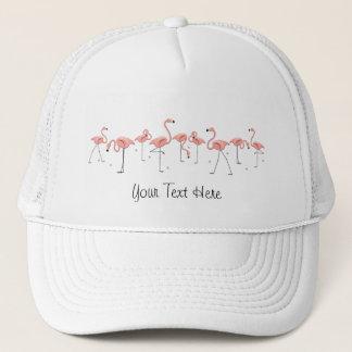 フラミンゴはグループの「文字」のトラック運転手の帽子を主演します キャップ