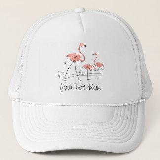 フラミンゴはトリオ2'を文字」のグループのトラック運転手の帽子飾ります キャップ