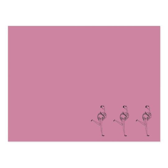 フラミンゴガール(ピンク) ポストカード