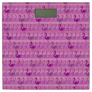フラミンゴパターン体重計(ピンク) 体重計