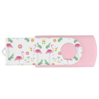 フラミンゴパターン USBフラッシュドライブ
