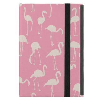 フラミンゴ公園のレトロのピンクのシルエット iPad MINI ケース