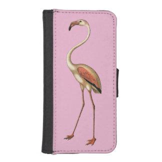 フラミンゴ公園のレトロの大きいピンクのフラミンゴ iPhoneSE/5/5sウォレットケース