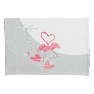 フラミンゴ愛大きい月の枕カバー 枕カバー