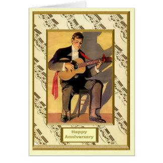 フラメンコのギタリスト カード