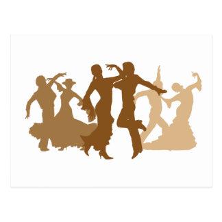 フラメンコのダンサーのイラストレーション ポストカード