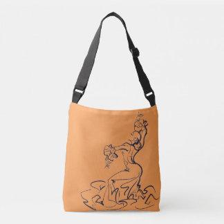 フラメンコのダンサーのスケッチ クロスボディバッグ