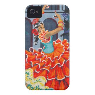 フラメンコのダンサーのブラックベリーのはっきりしたな箱 Case-Mate iPhone 4 ケース