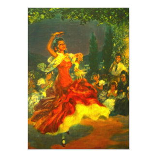 フラメンコのダンサーの招待状 カード