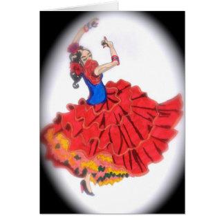 フラメンコのダンサーの挨拶状 カード