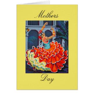 フラメンコのダンサーの母の日カード カード