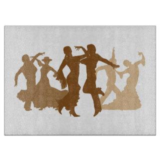 フラメンコのダンサーの絵 カッティングボード