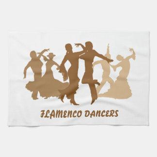フラメンコのダンサーの絵 キッチンタオル