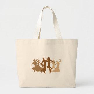 フラメンコのダンサーの絵 ラージトートバッグ