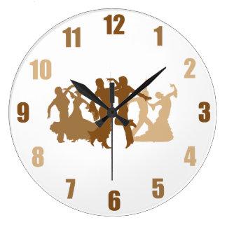 フラメンコのダンサーの絵 ラージ壁時計