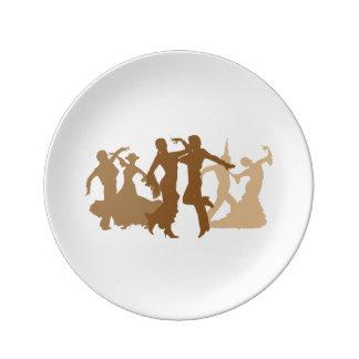 フラメンコのダンサーの絵 磁器プレート